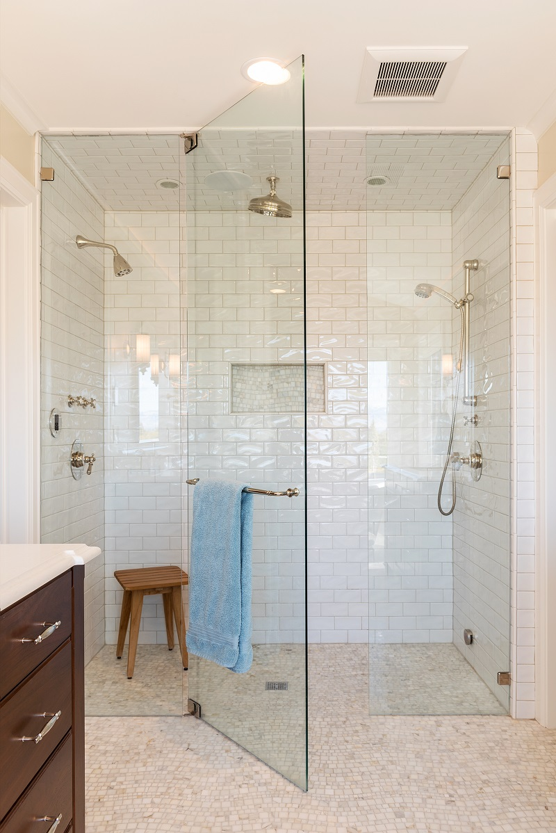 Large stand up shower