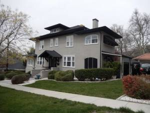 Before Federalist Style Home Exterior Remodel