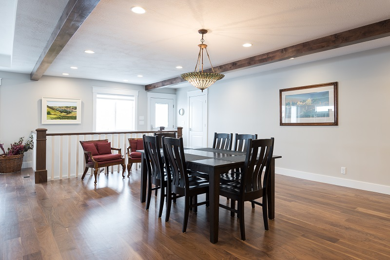 After, casual Dining, Great Room, Beam exposed ceilings, Rambler Home Remodel | Renovation Design Group