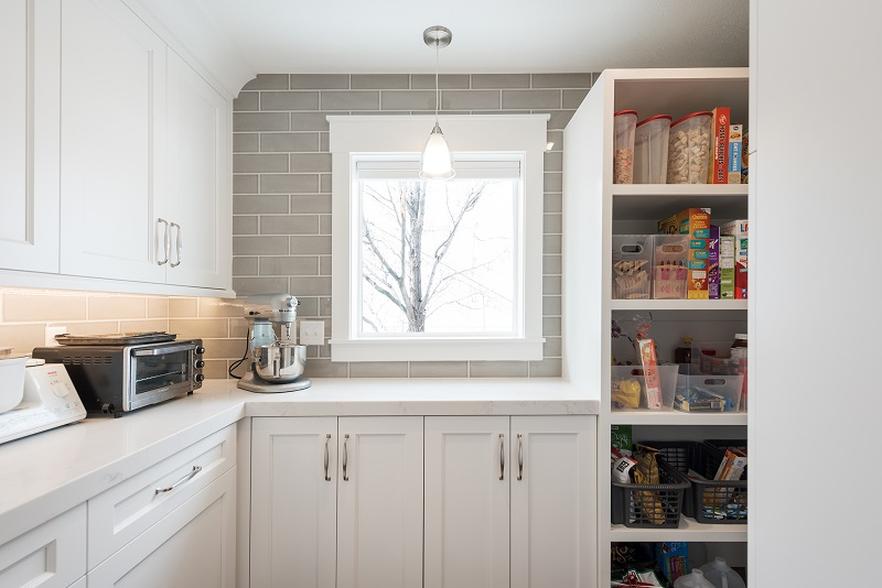 After Kitchens, Pantry, Modern, White cabinets, pantry ideas, Modern, Tile, Light fixtures | Renovation Design Group