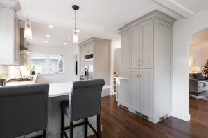Kitchen_Tudor_Contemporary_Small Spaces_Grey Cabinets | Renovation Design Group