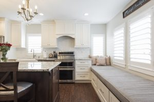 After, Interior, Kitchen, traditional, window bench, window seat, encloses Porch, new Kitchen addition