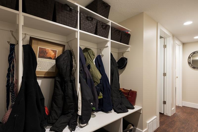 After, Interior, Mudroom, Cottage BAsement, Cubbies, | Renovation Design Group