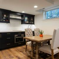 Full basement kitchenette and dining area