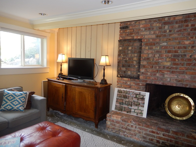 Before image of renovated family Room |Renovation Design Group