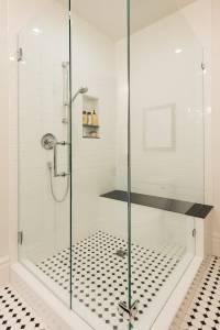 Modern Bathroom Remodels White Tile | Renovation Design Group
