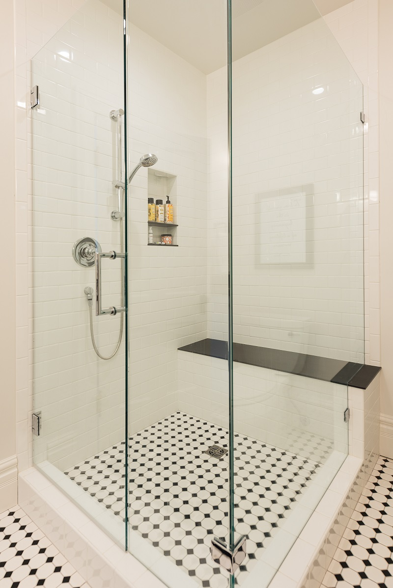 Modern Bathroom Remodels White Tile | Renovation Design Group