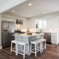 Cape Home, Open floor Plan, Kitchen remodels, Great room, white cabinets, modern designs | Renovation Design Group