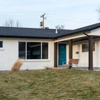 After Exterior of newly remodeled Mid Century Modern Home