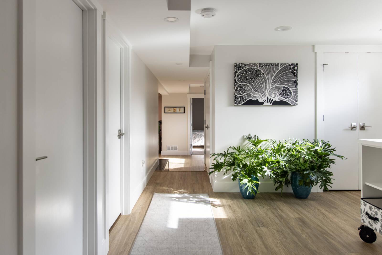 Natural light in Basement, Dark basement ideas, Entry way, modern traditional