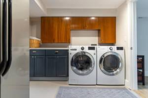 Laundry room, second kitchen, backup fridge space, laundry storage