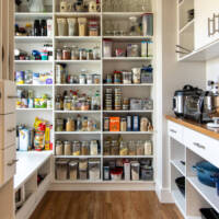 Bungalows, Walk-in pantry, small appliance storage ideas