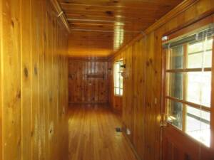 1970's design and style, Wood paneling ceiling to floor