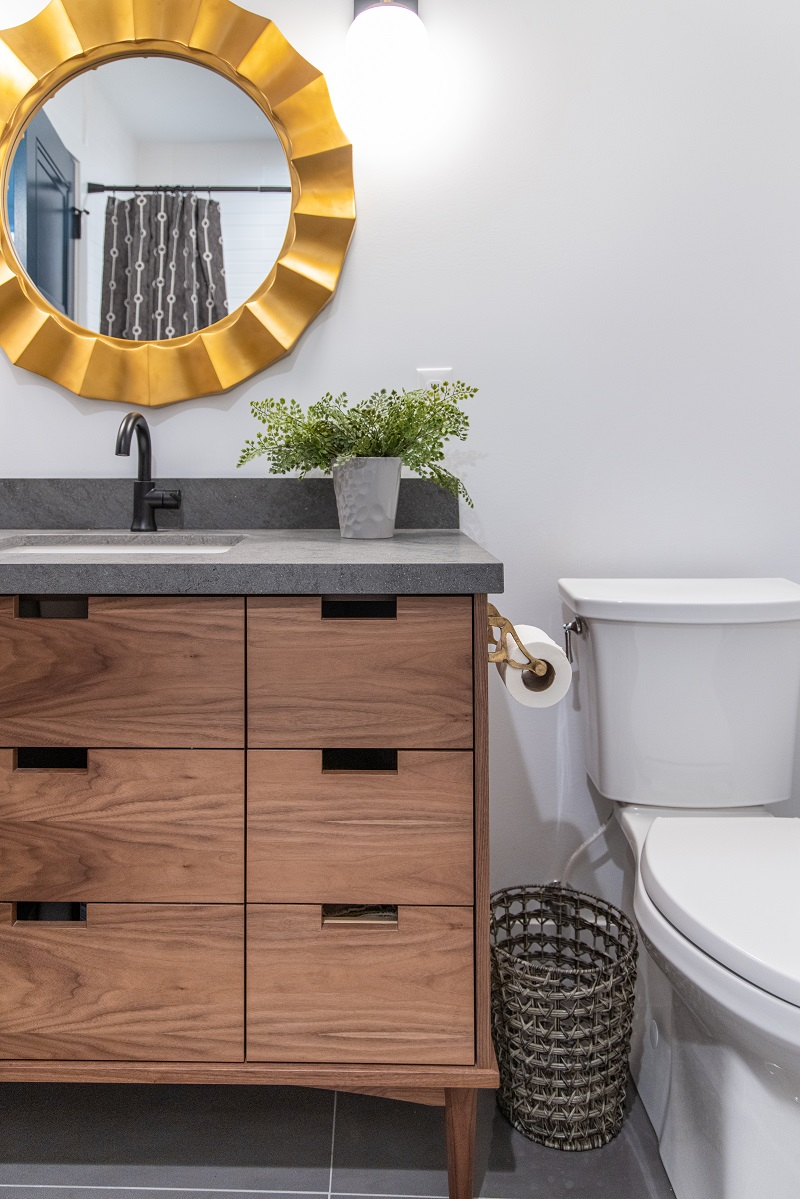 Modern Bathroom ideas and fixtures Gold accent