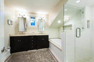 Before Interior MAster Bathroom Walk in shower full bath | Renovation Design Group