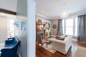 After Living Room remodel historic home remodel Victorian | Renovation Design Group