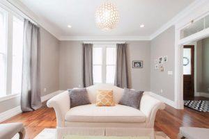 After Living Room remodel historic home remodel Victorian   Renovation Design Group