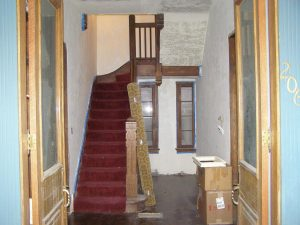 Before Interior remodel stairs 1880's built Home Historic propert | Renovation Design Group