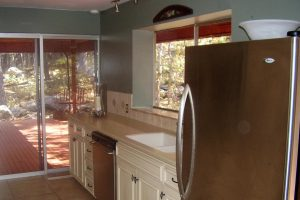 Before Kitchen remodel Natural Light Window bench Modern Traditional | Renovation Design Group