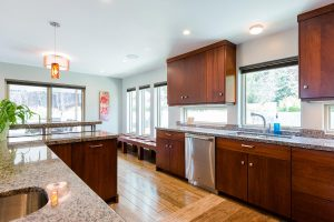 Kitchen remodel Natural Light Window bench Modern Traditional