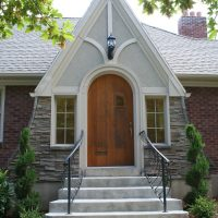 Front Entry Exterior Tudor Front Exterior Tudor Home Addition Before Front Porch Tudor | Renovation Design Group