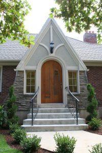 Front Entry Exterior Tudor Front Exterior Tudor Home Addition Before Front Porch Tudor | Renovation Design Group