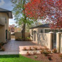 Landscape in Back Exterior Back terrace Exterior Italiante Designed Rear Porch Italiante Designed Home Exterior | Renovation Design Group