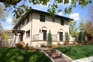 Back terrace Exterior Italiante Designed Rear Porch Italiante Designed Home Exterior   Renovation Design Group