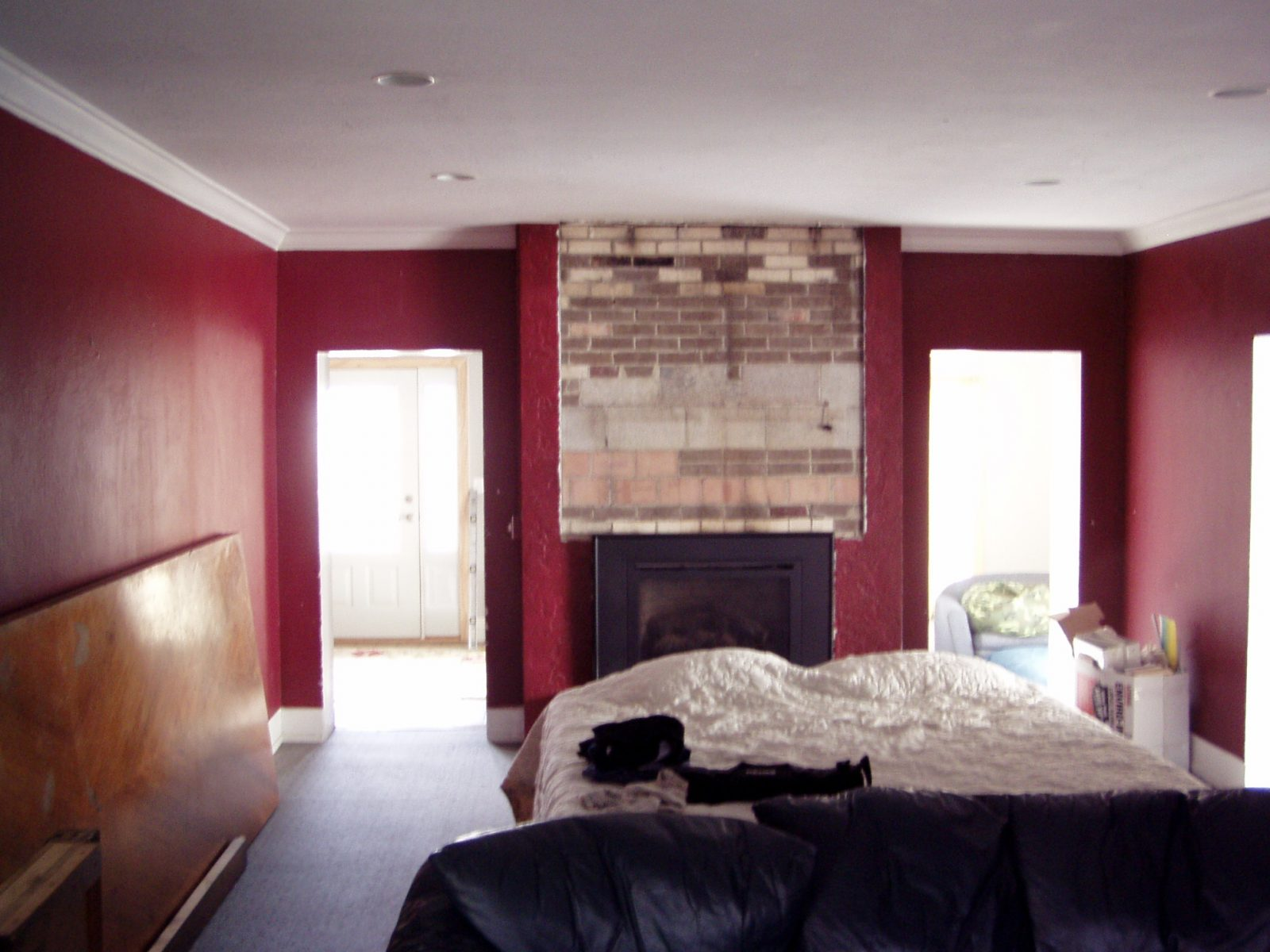 Before Living Room Fireplace | Renovation Design Group