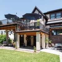 BAck patio, Tudor Exterior, Second Story Addition, Outdoor Spaces | Renovation Design Group