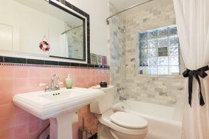 After, Historic restoration, Tudor home, bathroom, original tile | Renovation Design Group