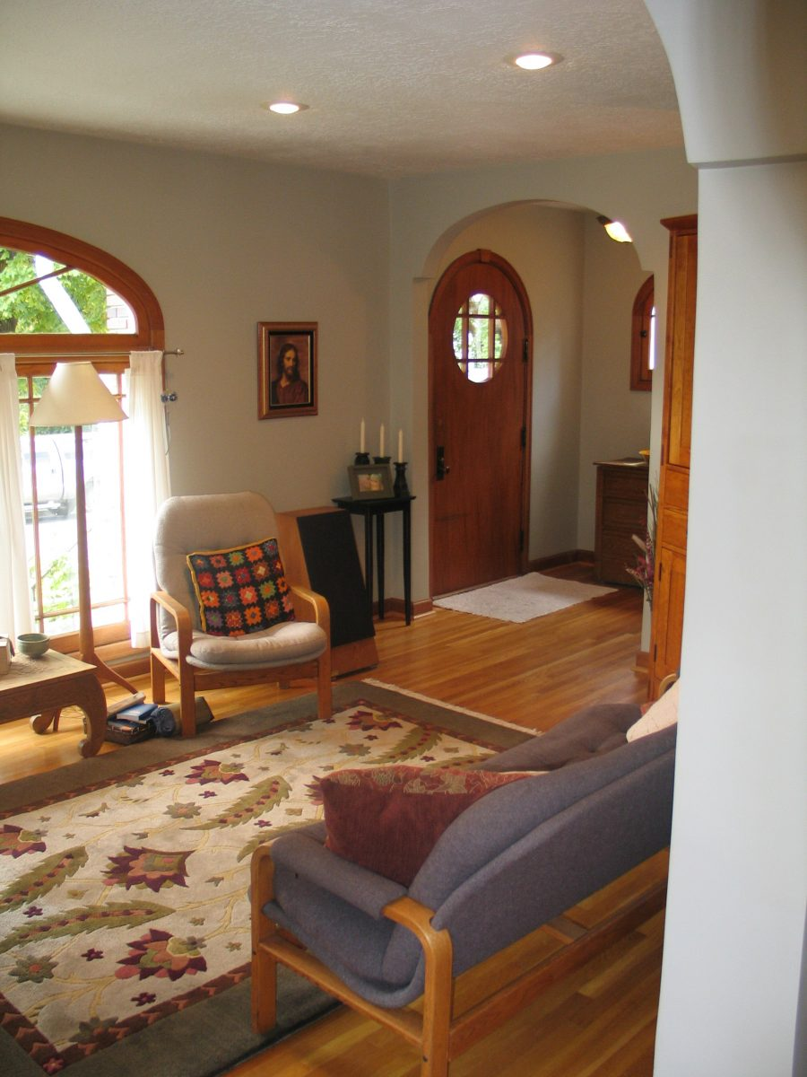 Contemporary Living Room Before | Renovation Design Group