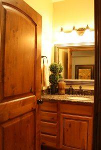 Cottage Bathroom Door Bathroom Shower Tiled Cottage Home | Renovation Design Group