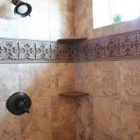 Bathroom Shower Tiled Cottage Home | Renovation Design Group