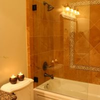 Tiled Shower wall Cottage Bathrrom Bathroom Shower Tiled Cottage Home | Renovation Design Group