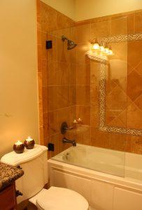 Tiled Shower wall Cottage Bathrrom Bathroom Shower Tiled Cottage Home | Renovation Design Group