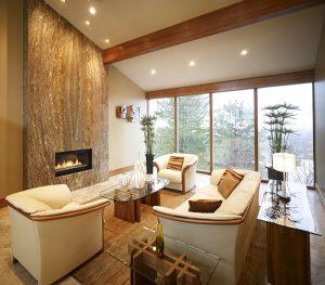 Contemporary Living Room, Ski setting, Mountain Setting, fireplace   Renovation Design Group