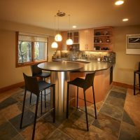 Contemporary, Modern, Kitchen, Skylights, Tile, fluch backsplash, wetbar | Renovation Design Group