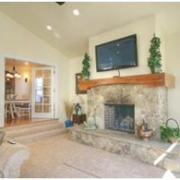 1800 East Cape Interior Fireplace Family Room Renovation | Renovation Design Group