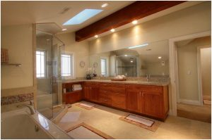 Upscale Contemporary Bathroom   Renovation Design Group