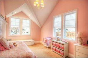 Girls Room in Cape Attic Cape Home Addition | Renovaiton Design Group