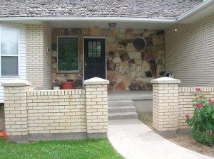 Cape Home Stone porch Before exterior remodel   Renovation Design Group
