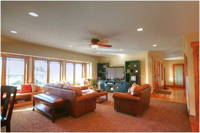 family room with entertainment center | Renovation Design Group