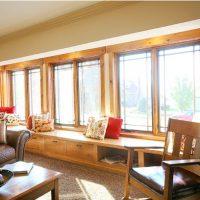 Windows, natural light, seat, wood trim, design | Renovation Design Group
