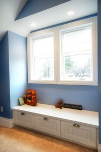 Boys Room Window Seat Attic | Renovation Design Group