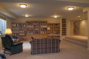 Rancher Basement Remodel Living Room Family Room 1960 | Renovation Design Group