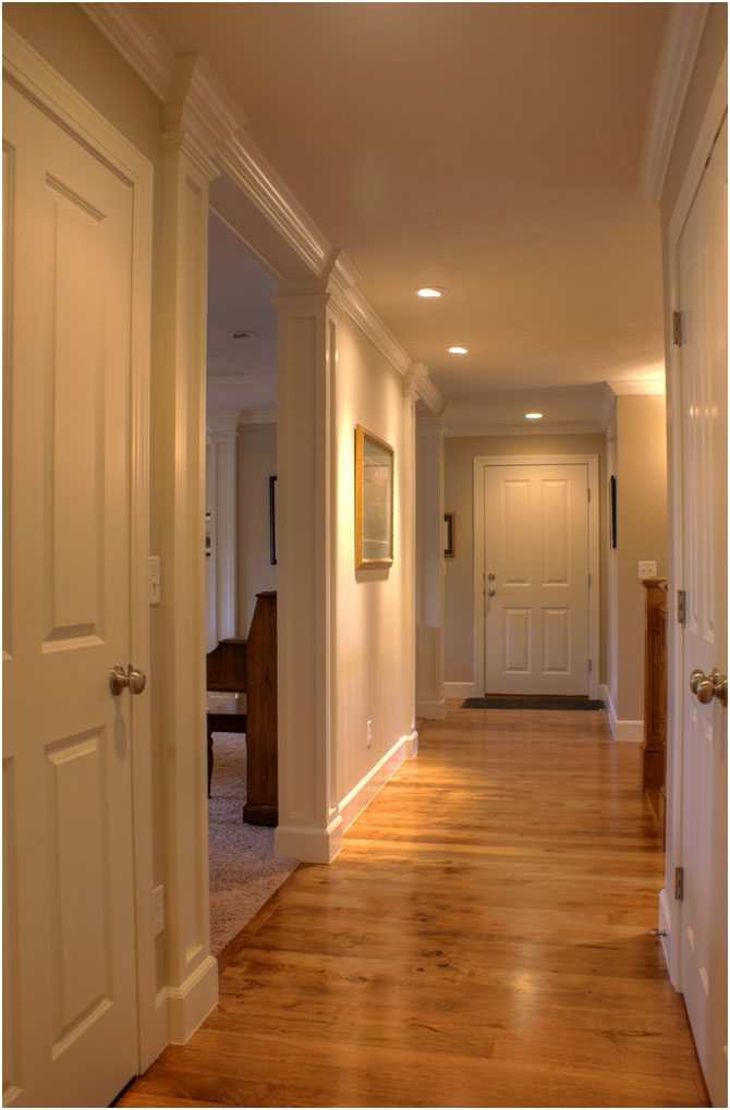 Hallway wood flooring Ranch Remodel Interior | Renovaiton Design Group