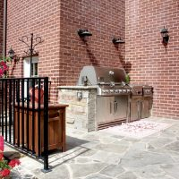 After Exterior Remodel Custom Grill Federalist Style | Renovation Design Group
