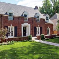 After Front Exterior Brick House Federal Style | Renovation Design Group