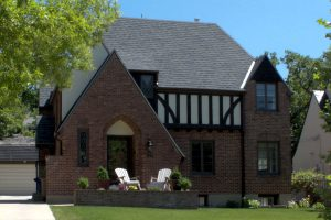 Before_Exterior_Tudor_Craftsman Home_Patio | Renovation Design Group